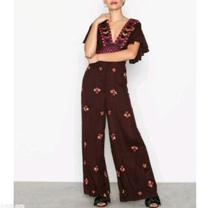 Free People 'Cleo' Embroidered Jumpsuit